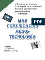 Mas Comunicación Menos Tecnología