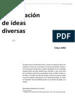 César Aira - Continuación de Ideas Diversas