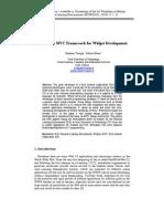 A Simple MVC Framework for Widget Development