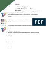 Evaluación  de Matemática ecuaciones sexto.docx
