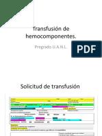 Transfusión de Hemocomponentes
