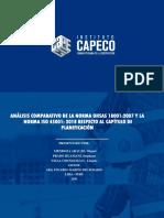 ANÁLISIS COMPARATIVO DE LA NORMA OHSAS 18001:2007 Y LA NORMA ISO 45001