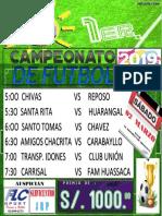 Campeonato de Futbol 04 de Marzo 2019