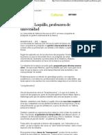 Reseña de la Voz de Asturias