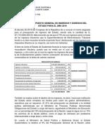 ANALISIS PRESUPUESTO GENERAL DE INGRESOS Y EGRESOS DEL ESTADO PARA EL AÑO 2019.docx