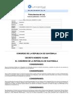 Ley - Ley de Armas y Municiones, DeCRETO 15-2009 - 21-04-2009.