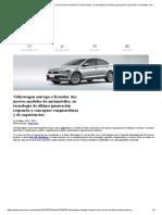 Volkswagen Entrega a Ecuador Dos Nuevos Modelos de Automóviles, Su Tecnología de Última Generación Responde a Conceptos Vanguardistas y de Experiencias _ Motores _ Noticias _ El Universo