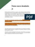 Descarta Pemex nuevo desabasto de gasolina.docx