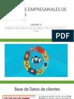 Unidad 8 - Sistemas de Administración de Relaciones Con El Cliente CRM (1)