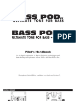 Bass PODxt User Manual - English