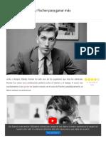 4 lecciones de Bobby Fischer para ganar más partidas