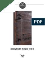 Redwood Door Pull 1 1