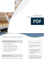 Internal Audit Report to Audit Committee (1)