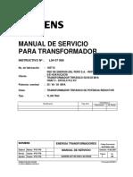 Manual de Servicio para Transformadores