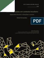 Teatro Expandido Brasileiro - Sílvia Fernandes