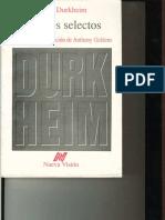 Emile Durkheim pp.201-215 (+pp.125-153)