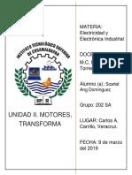 Unidad II. Motores, Transformadores y Dispositivos de Control