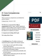 31 Core Competencies Explained - Workforce