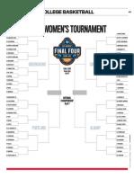 2019 NCAA Women's Tournament bracket