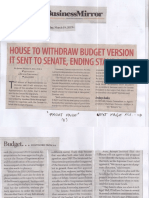 Business Mirror, Mar. 19, 2019, House to withdraw budget version it sent to Senate, ending standoff.pdf