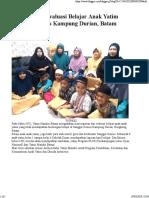 Rapotan Dan Evaluasi Belajar Anak Yatim Sanggar Genius Kampung Durian, Batam