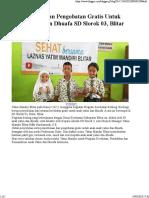 Pemeriksaan Dan Pengobatan Gratis Untuk Anak Yatim Dan Dhuafa SD Slorok 03, Blitar