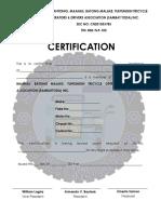 Certification Light Background