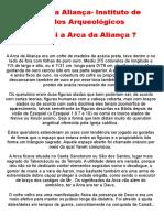 A Arca Da Aliança- Instituto de Estudos Arqueológicos