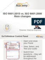 ISO 9001 2015 vs ISO 9001 2008 Main Changes Webinar Presentation Deck