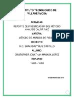REPORTE DE INVESTIGACIÓN DEL MÉTODO ANÁLISIS CAUSA RAÍZ.docx