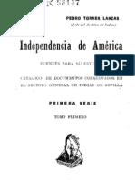 Independencia de America - Catálogo General de Indias Sevilla T I - OCR