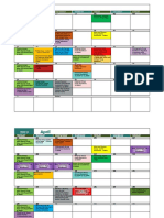 Activities Calendar 19-20 March 19 Two Rows Per Week