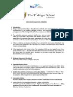 The Trafalgar School Admission Arrangements 2020 21