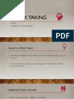 Stock Taking