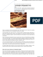 How Chocolate is Made; An Example of Explanation Text