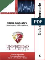 Guía de Laboratorio 6. Práctica de Laboratorio Operaciones Con Señales Analógicas