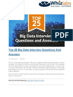 Big Data Interview Questions Answers