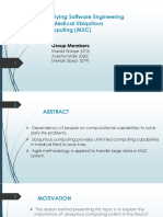 Applying Software Engineering on Medical Ubiquitous Computing (