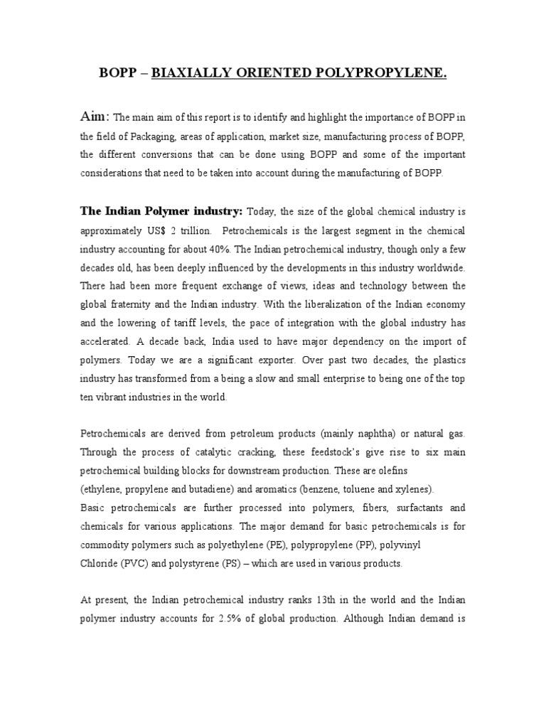 BOPP | Petrochemical | Industrial Processes