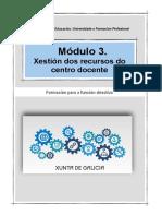 Módulo III. Xestión eficiente e eficaz dos recursos do centro docente