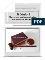 Módulo I. Marco normativo aplicable aos centros docentes (Actualización)