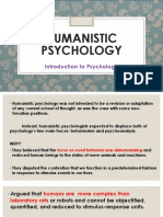 7 Humanistic Psychology