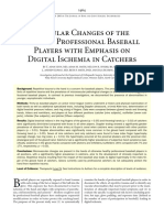 Vascular Changes of the Hand in Professional Baseball Players With Emphasis on Digital Ischemia in Catchers