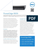 Dell PowerEdge R830 Spec Sheet