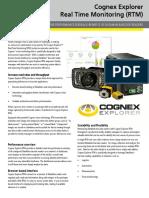 Cognex Explorer Real Time Monitoring Datasheet