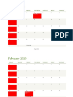Calender of Events