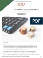 Criminalização Das Atividades Empresariais Inexitosas - JOTA Info