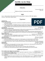 online portfolio - resume - mariella van der sluijs