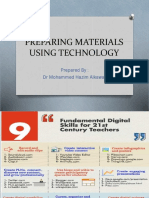 Teaching Materials Using Technology