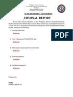 Format Terminal Report